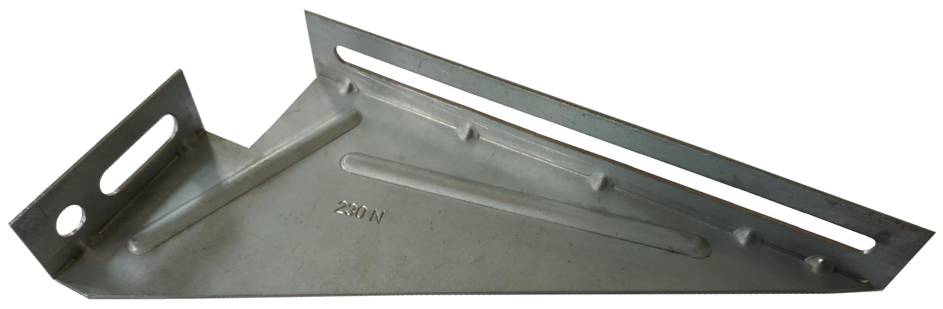 Patte a gousset isolation 200 mm